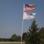 My dad flies flags based on whats going on