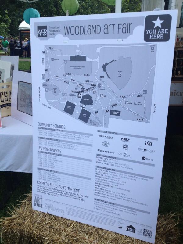 Woodland Art Fair 2013 Map