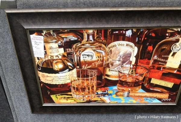 chrishartsfield watercolor bourbon artwork woodford reserve blantons