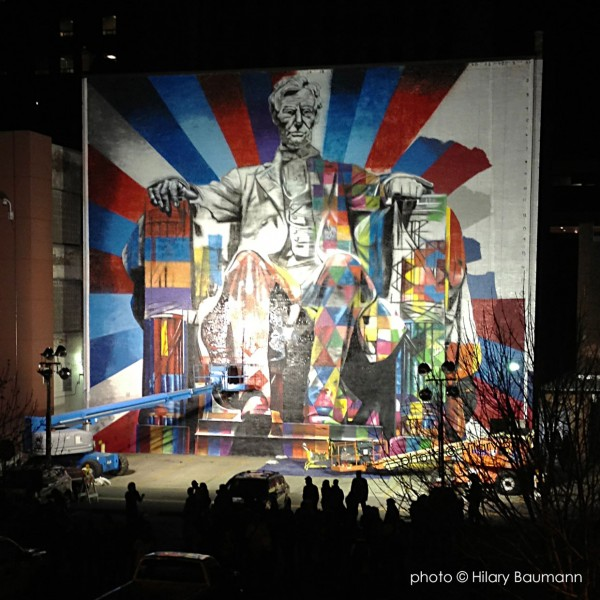 Eduardo Kobra Lexington KY Lincoln painting